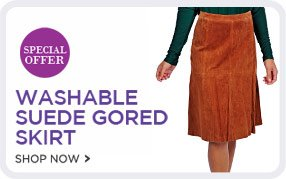 Guillaume Washable Suede Gored Skirt - Shop Now!