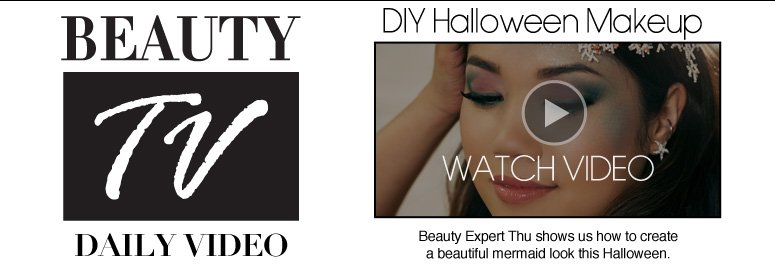 Beauty TV Daily Video DIY Halloween Makeup Beauty Expert Thu shows us how to create a beautiful mermaid look this Halloween. Watch Video>>