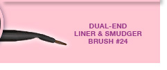 DUAL-END LINER & SMUDGER BRUSH #24