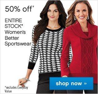 50% off Womens Better Sportswear. Shop now.
