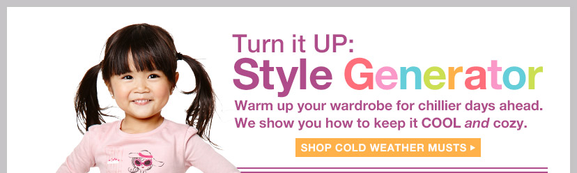 Turn it UP: Style Generator | SHOP COLD WEATHER MUSTS