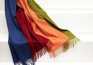 Stylish Solids: Scarves