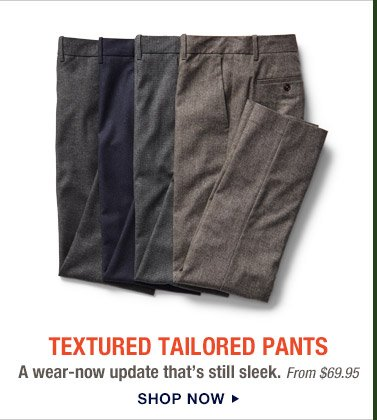 TEXTURED TAILORED PANTS | SHOP NOW