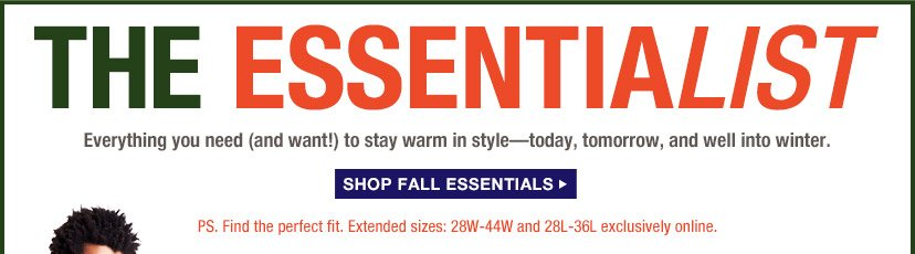 THE ESSENTIALIST | SHOP FALL ESSENTIALS