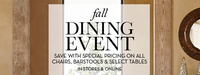 fall DINING EVENT