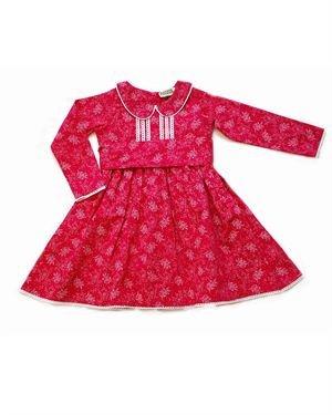 Sophie Catalou Flower Print A-Line 100% Cotton Dress