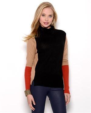 Elio Colorblock Turtleneck Sweater