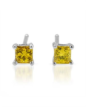 White Gold Earrings with 0.11 CTW Diamonds