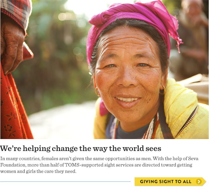 We're helping change the way the world sees - giving sight to all