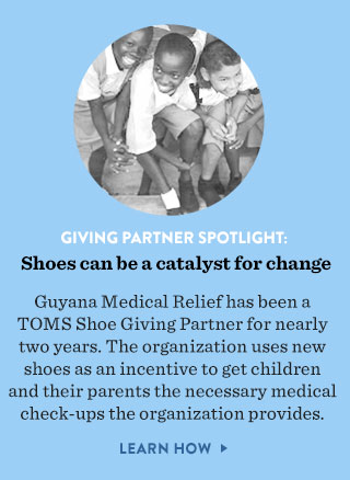 Giving Partner Spotlight: shoes can be a catalys for change - learn how