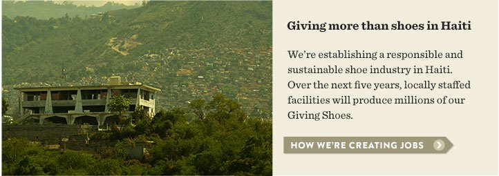 Giving more than shoes in Haiti - how we're creating jobs