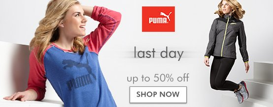 Last day for PUMA up to 50% off! Shop now.