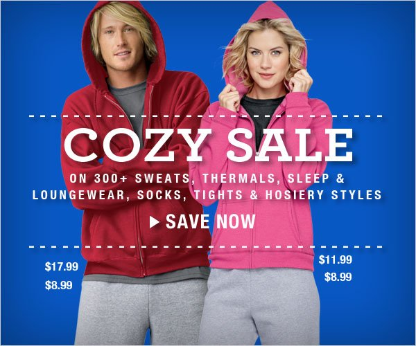 Cozy Sale: All sweats, thermals & more