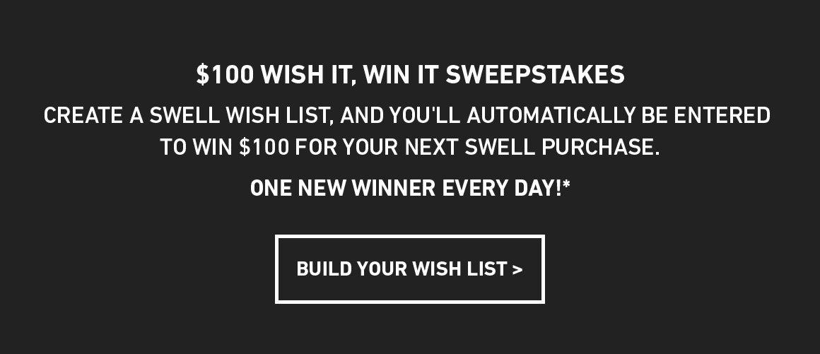 Build A Wishlist, Win $100