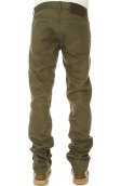 The Weird Guy Jeans in Selvedge Chino Khaki Green
