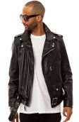 The 626 Motorcycle Jacket in Black Leather