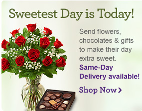 Sweetest Day is Today! Send flowers, chocolates and gifts to make their day extra sweet. Same-Day Delivery available! Shop Now