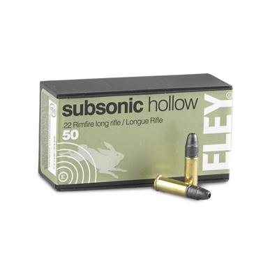 50 rds. Eley® .22 LR Subsonic Hollow 40 Grain Ammo