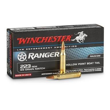 200 rds. Win.® Ranger® .223 69 Grain Ammo