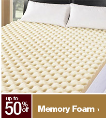 up to 50% off Memory Foam