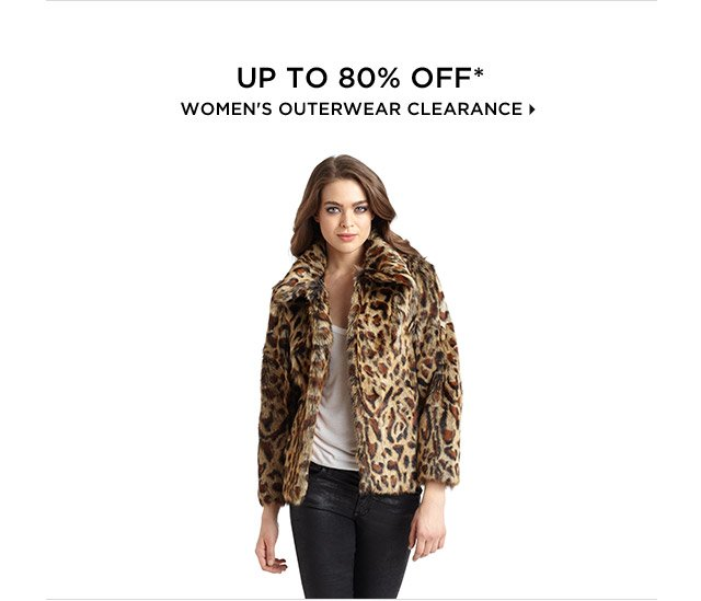 Up To 80% Off* Women's Outerwear Clearance
