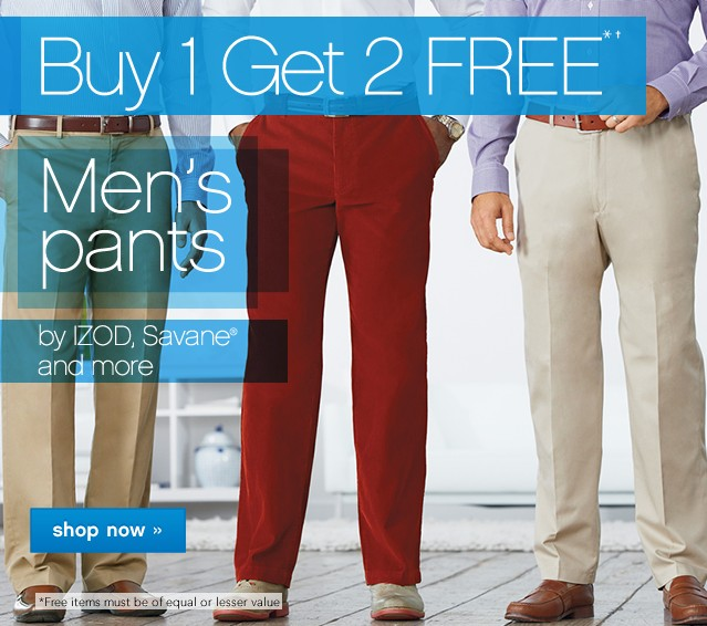 Buy One Get One Free Mens Pants