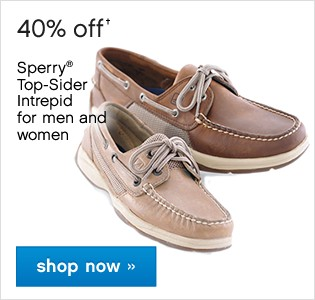 40% off Womens and Mens Sperry. Shop now.