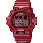 Casio DW6900MF-4 Men's G-Shock Metallic Red Resin Grey & Red Digital Dial Dive Watch