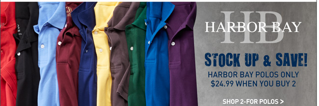 Harbor Bay Polos Mix and Match