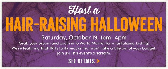 Join us In Store for our Halloween Event: 10/19 1pm-4pm