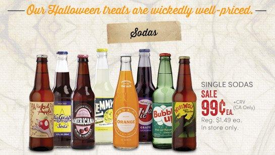 Single Sodas - Sale 99¢ea