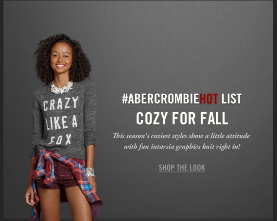 #ABERCROMBIEHOT LIST COZY FOR  ALL SHOP THE LOOK