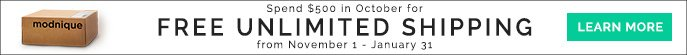 Spend $500 in October for Free Unlimited Shipping from November1-January 31