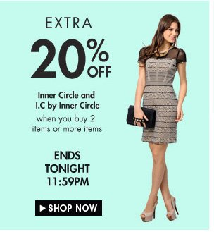 Get extra 20% off Inner Circle and I.C by Inner Circle