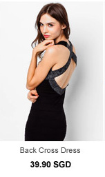 SOMETHING BORROWED Texture Bodycon Back Cross Dress