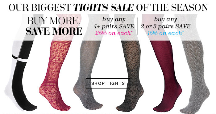 Our Biggest Tights Sale of the Season. Shop Tights.