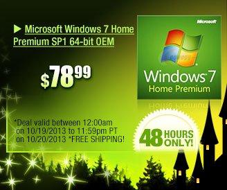 78.99usd ... microsoft windows 7 home premium sp1 64-bit oem