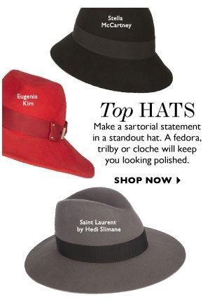 TOP HATS. SHOP NOW