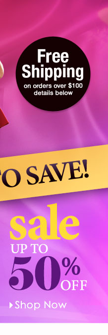 SAVE up to 50% off! SHOP SALE!