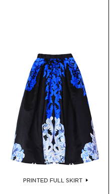The Printed Full Skirt