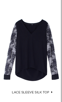 Lace Sleeve Silk Top