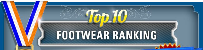 Top 10 Footwear Ranking