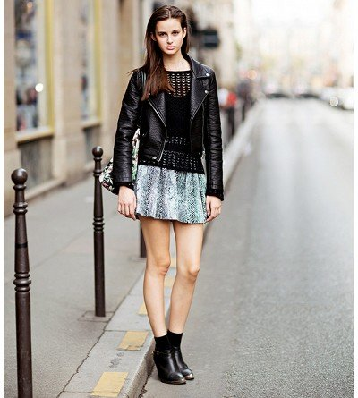 How do I wear a skirt with boots?