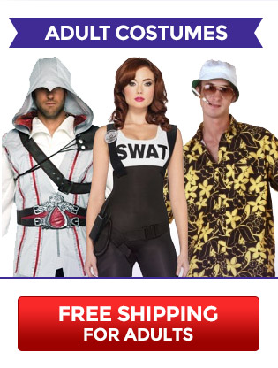 Free Shipping for Adult Costumes