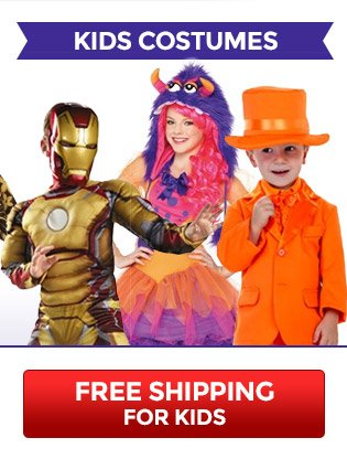 Free Shipping for Kids Costumes