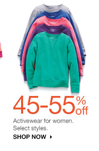 45-55% off Activewear for women. Select styles. Shop Now