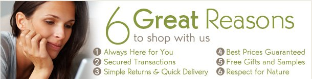 6 GREAT REASONS TO SHOP WITH US