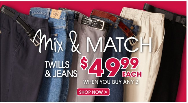 2 for mix and match pants