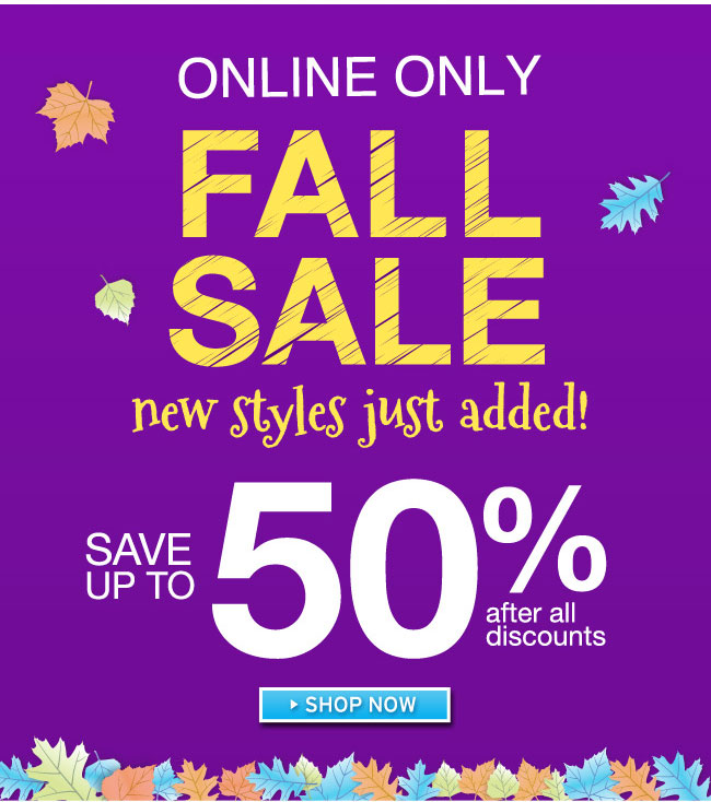 50% Off Fall Sale