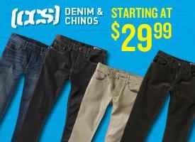 CCS Denim & Chinos start at $29.99